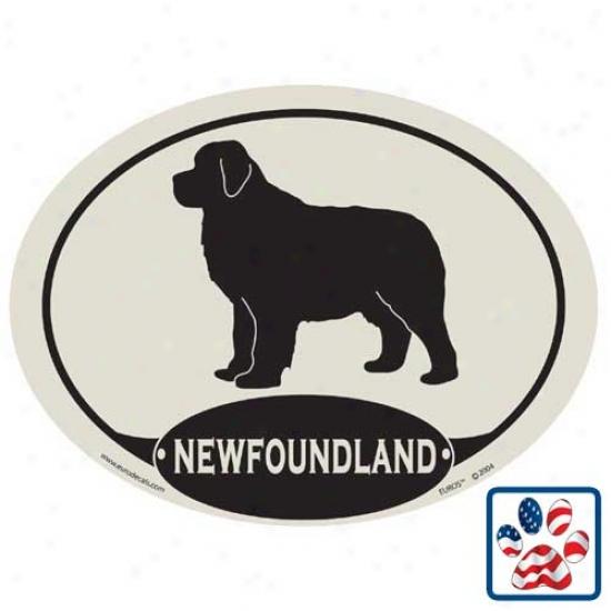 European Style Newfoundland Car Magnet