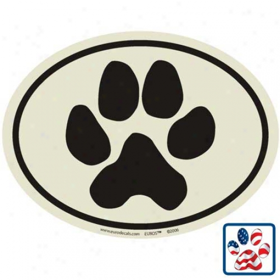 European Style Paw Print Auto Decal
