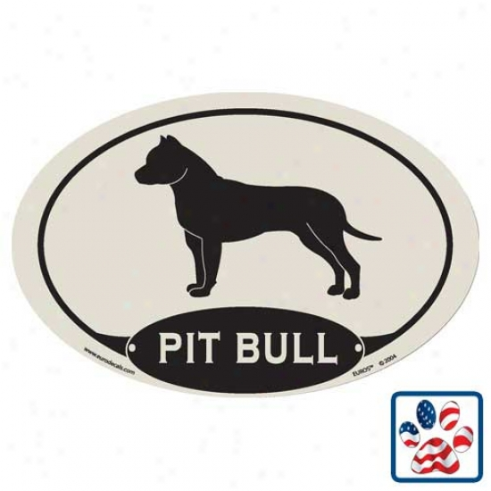 European Style Pitbull Car Magnet