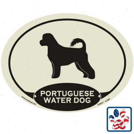 European Style Portuguese Water Dog Auto Decal