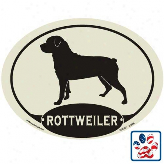 European Style Rottweiler Auro Decal