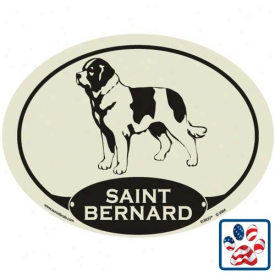 European Style Saint Bernard Auto Decal