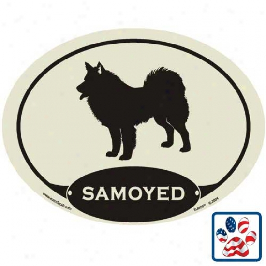 European Style Samoyed Auto Decal