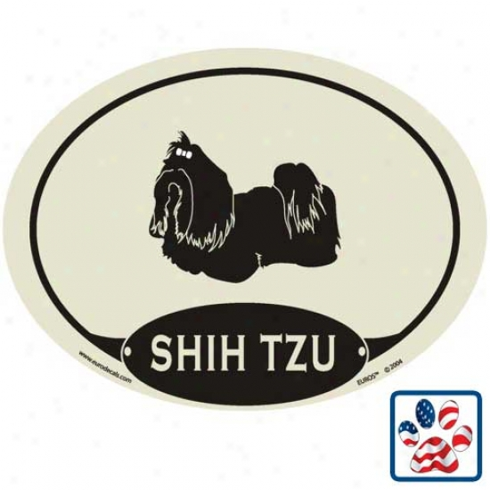 European Style Shi Tzu Auto Decal
