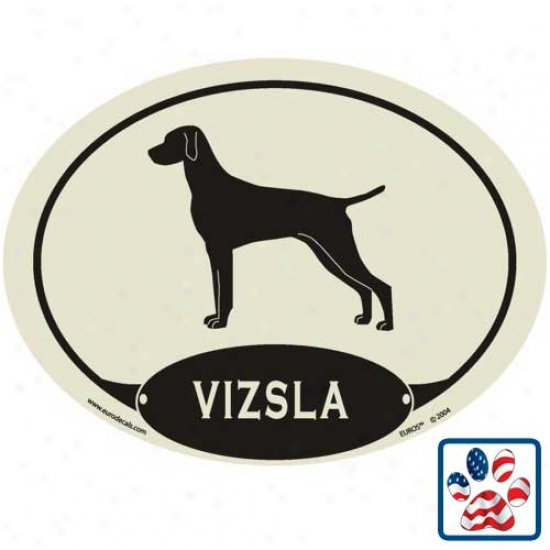 European Style Vizsla Auto Decal