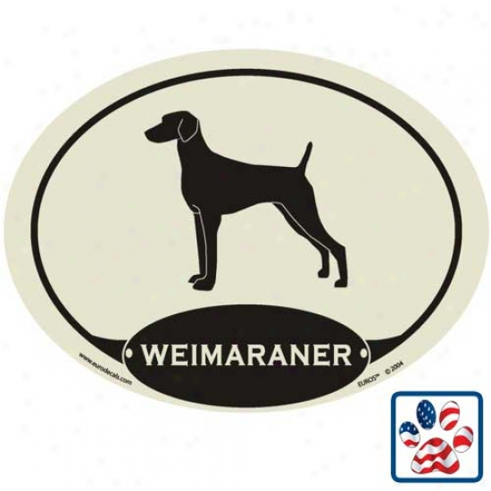 European Style Weimaraner Auto Decal