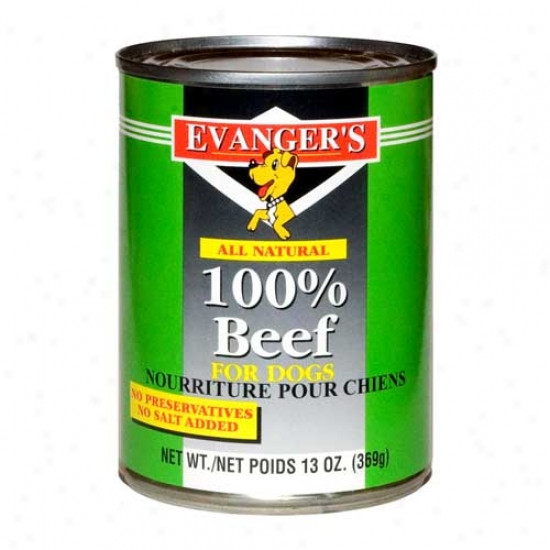 Evangers Beef Dog Food Case Of 24 6oz Cans