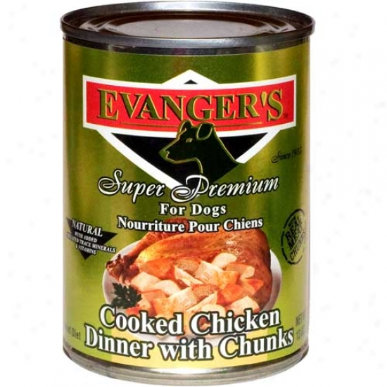 Evangers Gold Label Cooked Chicken With Chunks Case Of 12 13.2oz Cans