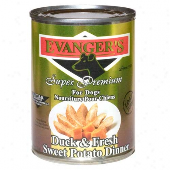Evangers Gold Label Duci And Sweet Potato Dog Food Case Of 12 13.2oz Cans
