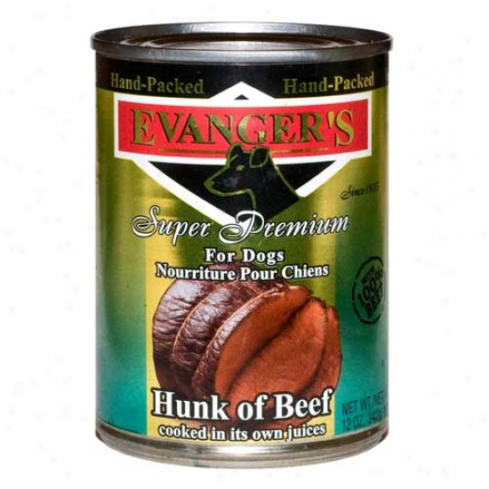 Evangers Gold Label Hunk Of Beef Question Of 12 13.2oz Cans