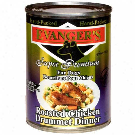 Evangers Gold Label Roasted Chicken Drumette Case Of 12 13.2oz Cans