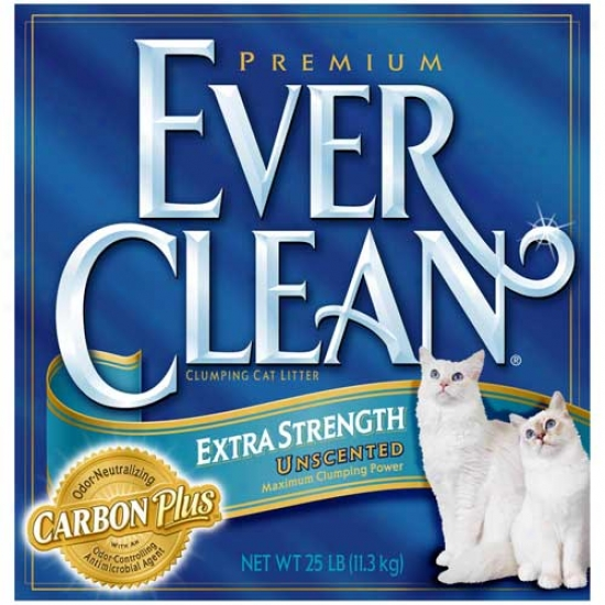 Everclean Cat Litter Unscented 25lb