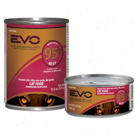 Evo Cat Food 95 Percent Beef 13.2oz Case Of 12 Cans