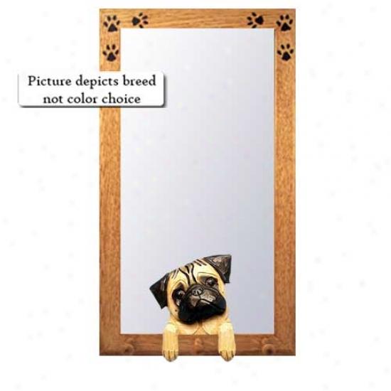 Crouch Pug Hall Mirror With Basswood Walnut Frame
