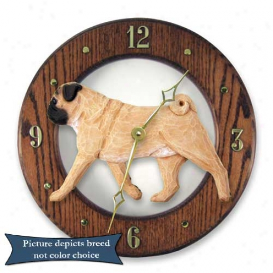 Fawm Pug Wall Clock In Light Oak By Michael Park