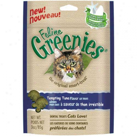 Feline Greenies Tempting Tuna Flavor, 3oz Bag