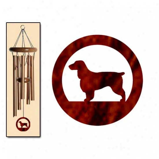 Field Spaniel Wind Chimes Small Bronze
