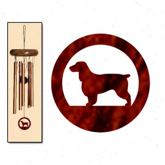 Field Spaniel Wind Chimes X-small Bronze