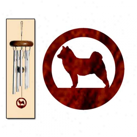 Finnish Lapphund Wind Chimes X-small Silver