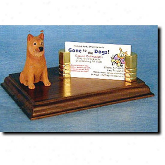 Finnish Spitz Business Card Holder