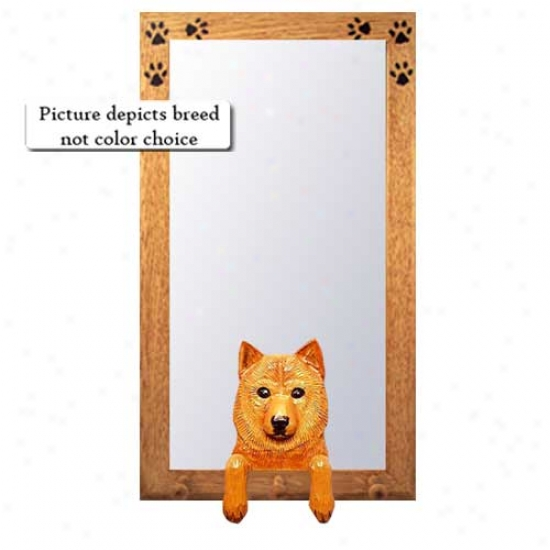 Finnish Spitz Hall Pattern With Oak Golden Frame
