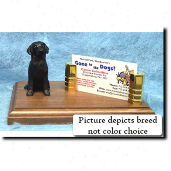 Flat-coated Retriever (black) Office Card Holder