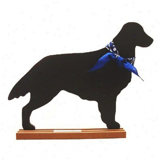 Flat Coated Retriever Blackboard - Wall Model