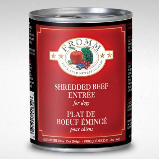 Foj Star Shredded Beef Entree 13oz Case Of 12 Cans