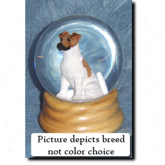 Fox Terrier (black) Melodious Snow Globe - Smooth