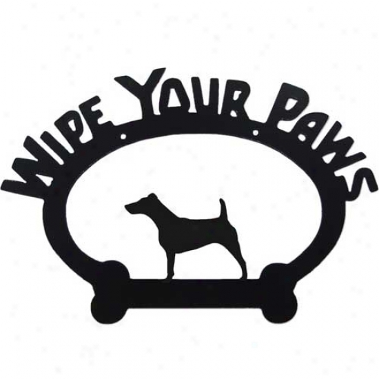 Fox Terrier Wipe Your Paws Decorative Sign