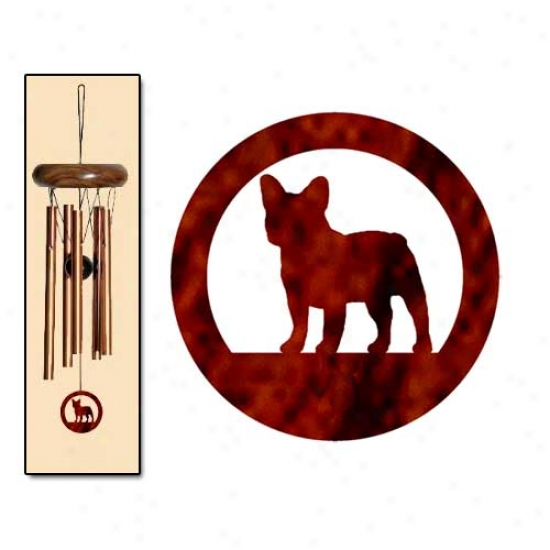 French Bulldog Wind Chimes X-small Brpnze