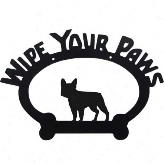 French Bulldog Wipe Your Paws Decoratlve Signn