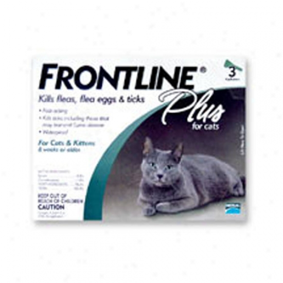 Frontline Plus Flea And Tick Protection For Cats - 3 Pack