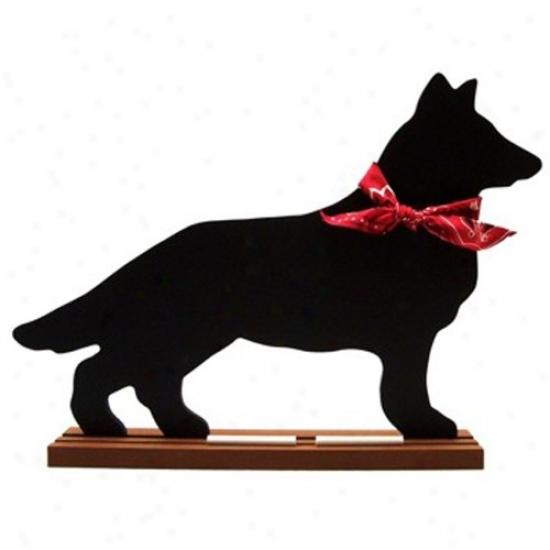 German Shepherd Blackboard - Table  Model