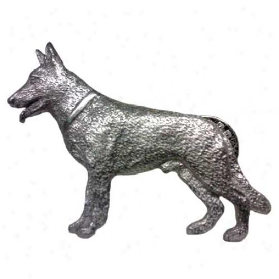 German Shepherd Dog Pewter Pin