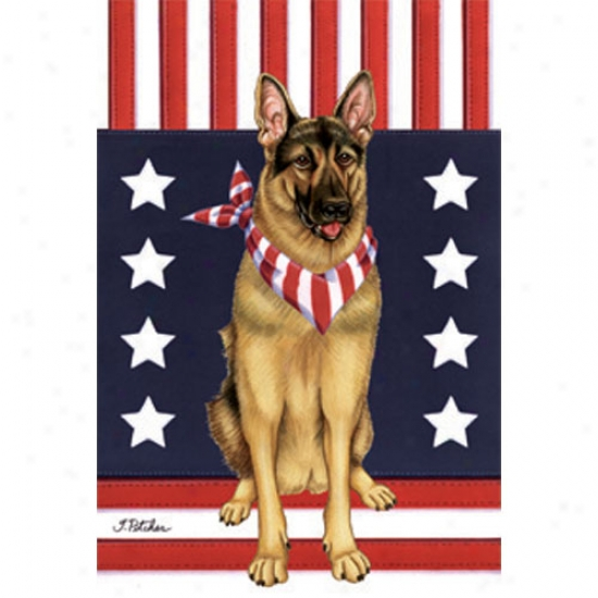 German Shepherd Patriotic Breed Flag