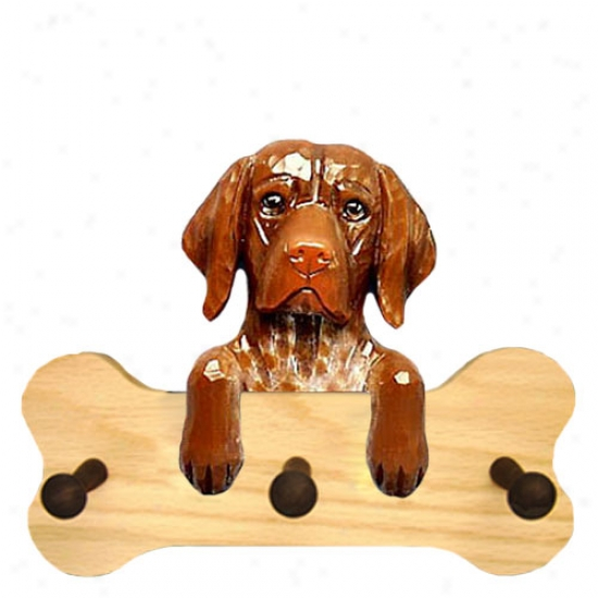 German Shorthaired Pointer Bone Hang Up Natural Oak