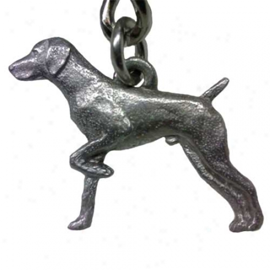 German Shorthaired Pointer George Harris Pewter Keychain
