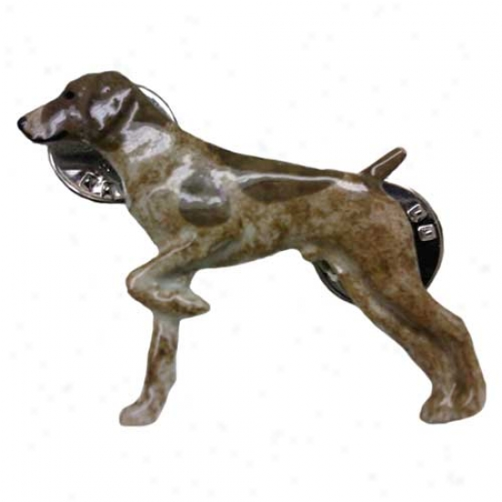 German Shorthaired Pointer Hand Painted Pin