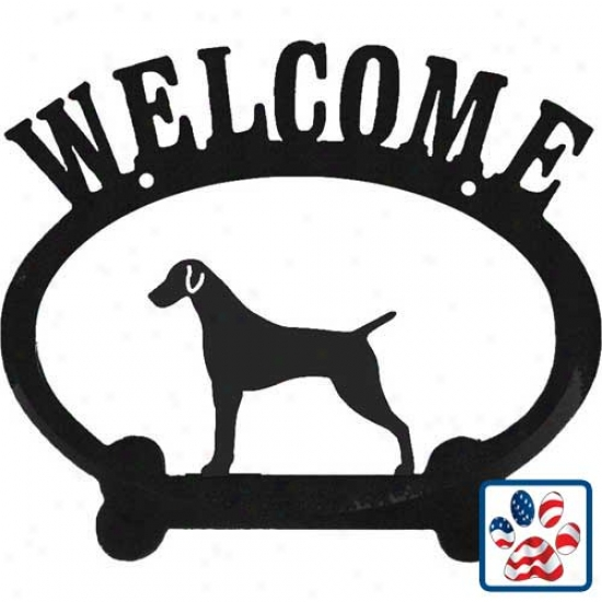 German Shorthaired Pointer Metzl Weocome Sign