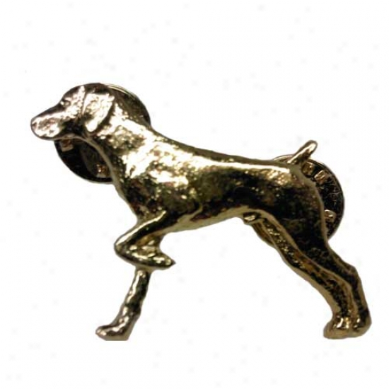 German Shorthaired Pointer Pin 24k Gold Plated