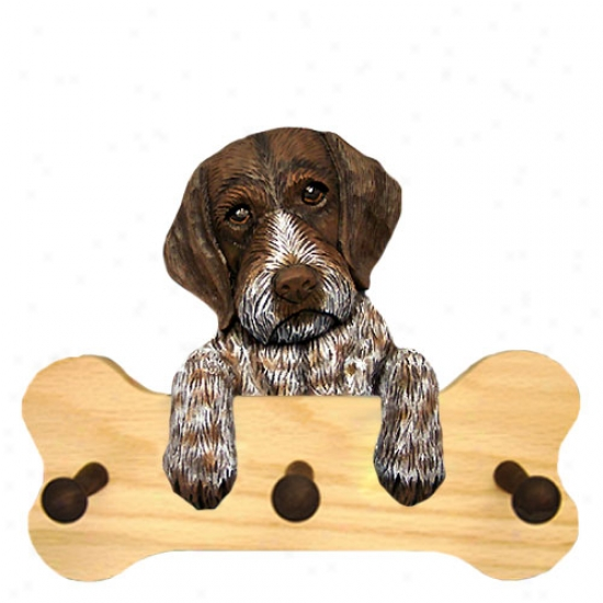 German Wirehaired Pointer Bone Hang Up Natural Oak