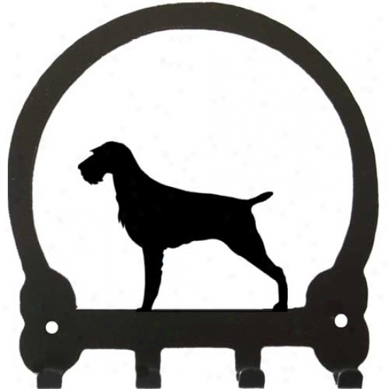 German Wirehaired Pointer Key Rack By Sweeney Ridge