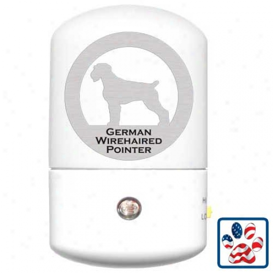 German Wirehaired Pointer Led Night Light