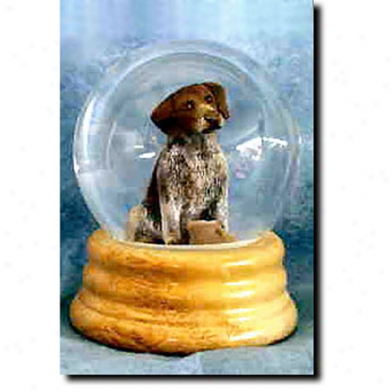 German Wirehaired Pointer Melodious Snow Globe