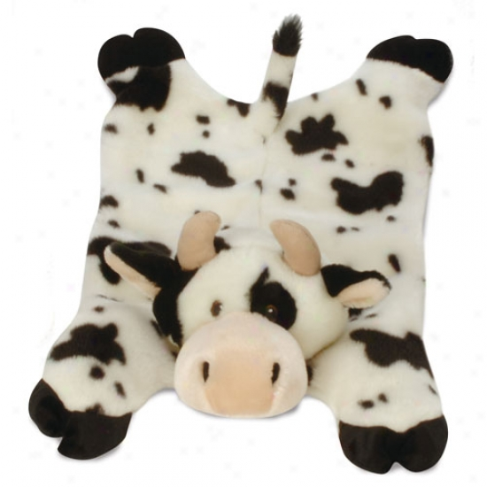 Go Dog Barnyard Buddies Cow Mama Plush Toy Wit hChew Guard Technology