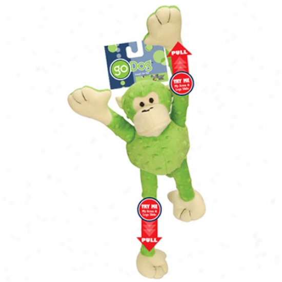 Go Dog Mr Monkey With Champ Guard Technology Lime Green