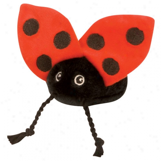 Go Dog Tiny Ladybug With Chew Guard Technology Plush Toy