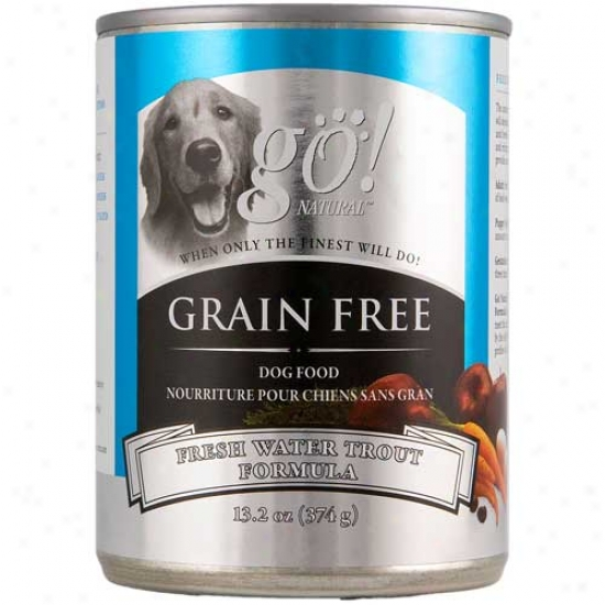 Go Natural Grain Free Freshwater Trout Dog Food Case Of 12 13.2oz Cans