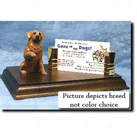 Golden Retriever (dark) Business Card Holder